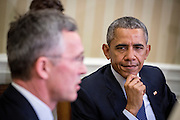 Secretary General in NATO, Mr. Jens Stoltenberg, visits the White House and the US President Barack Obama.
