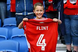 Aden Flint of Bristol City gives his shirt to a lucky fan - Mandatory by-line: Jason Brown/JMP - 29/04/2017 - FOOTBALL - Amex Stadium - Brighton, England - Brighton and Hove Albion v Bristol City - Sky Bet Championship