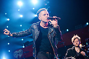 One Republic performing at the iHeartRadio Jingle Ball 2014, hosted by Z100 New York at Madison Square Garden on December 12, 2014 in New York City.