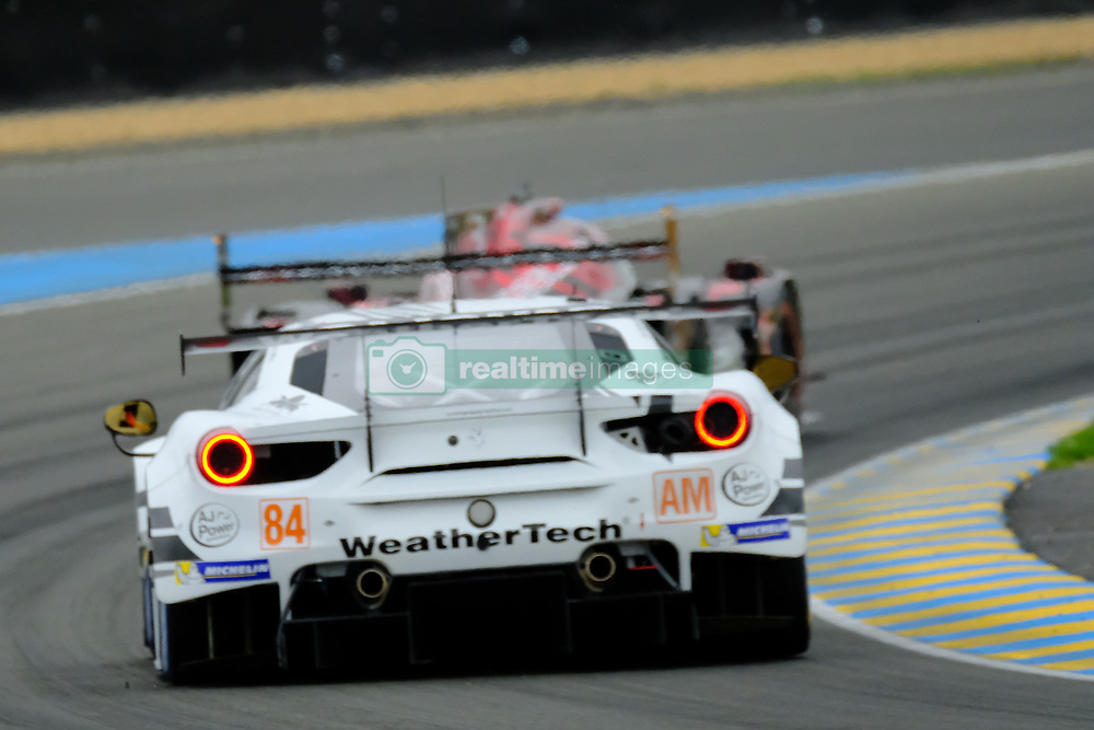 June 15, 2018 - Le Mans, Sarthe, France - JMW Motorsport Ferrari 488 GTE Liam GRIFFIN (GBR) in action during the 86th edition of the 24 hours of Le Mans 2nd round of the FIA World Endurance Championship at the Sarthe (Credit Image: © Pierre Stevenin via ZUMA Wire)