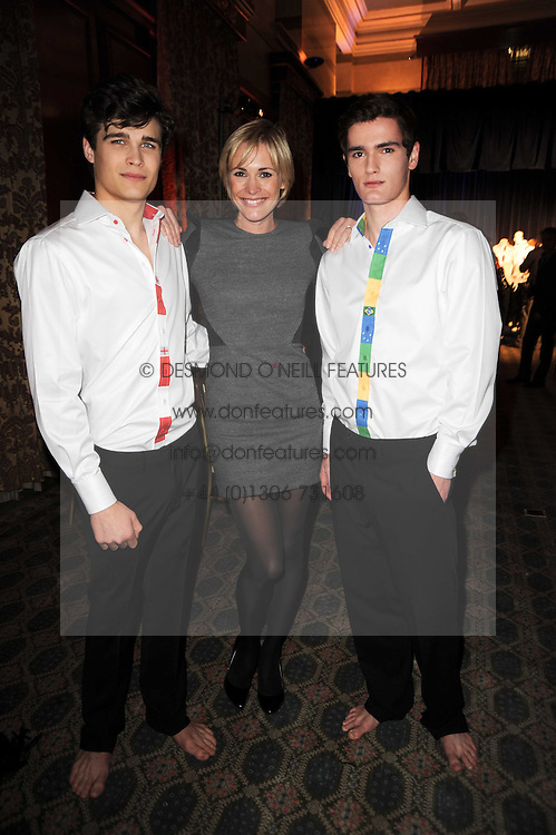 JENNI FALCONER and models at the launch of Grosvenor Shirts luxury collection to celebrate the 2010 FIFA World Cup in South Africa held at 88 St.James's Street, London SW1 on 8th December 2009.