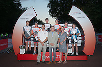 Grand Prix Youth Boys and Girls winners pose, during Prudential RideLondon,  2015 Saturday 1st August, 2015. <br /> <br /> Prudential RideLondon is the world's greatest festival of cycling, involving 95,000+ cyclists – from Olympic champions to a free family fun ride - riding in five events over closed roads in London and Surrey over the weekend of 1st and 2nd August 2015. <br /> <br /> Photo: Jon Buckle for Prudential RideLondon<br /> <br /> See www.PrudentialRideLondon.co.uk for more.<br /> <br /> For further information: Penny Dain 07799 170433<br /> pennyd@ridelondon.co.uk