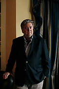 Steve Bannon at his home in Washington, D.C.