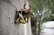 "After years of accumulations, Paris finally decided to remove the ""love locks"" from the Pont des Arts in June. We happened to be there as they started to be removed."