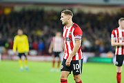 Sheffield United forward Billy Sharp (10) during the Premier League match between Sheffield United and Arsenal at Bramall Lane, Sheffield, England on 21 October 2019.