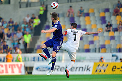 Alen Koyar of NS Mura vs. Aleks Pihler of NK Maribor during football match between NK Maribor and NS Mura in 2nd Round of Prva liga Telekom Slovenije 2018/19, on July 29, 2018 in Ljudski vrt, Maribor, Slovenia. Photo by Mario Horvat / Sportida