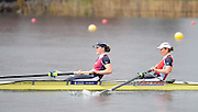 Hazewinkel. BELGUIM, GBR W2- Bow Alice FREEMAN and Carla ASHFORD, during the finals of the  2008 GB Rowing Trials, at the Bloso Rowing Course, 09/03/2008. [Mandatory Credit, Peter Spurrier/Intersport-images] Rowing Course, Bloso, Hazewinkel. BELGUIM