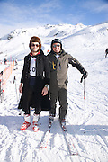 RIANO MARTIANI; EDDY DEVITA, Children and Adult ski race in aid of the Knights of Malta,  Furtschellas. St. Moritz, Switzerland. 23 January 2009 *** Local Caption *** -DO NOT ARCHIVE-© Copyright Photograph by Dafydd Jones. 248 Clapham Rd. London SW9 0PZ. Tel 0207 820 0771. www.dafjones.com.<br /> RIANO MARTIANI; EDDY DEVITA, Children and Adult ski race in aid of the Knights of Malta,  Furtschellas. St. Moritz, Switzerland. 23 January 2009