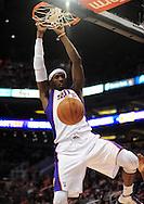 Dec. 5 2010; Phoenix, AZ, USA; Phoenix Suns forward Hakim Warrick (21) dunks the ball during the second half against the Washington Wizards at the US Airways Center. The Suns defeated the Wizards 125-108. Mandatory Credit: Jennifer Stewart-US PRESSWIRE.