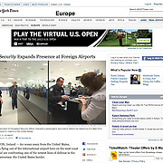 "Screengrab of ""US security at Shannon Airport"" published in The New York Times"