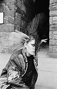 Mandy, A Punk girl in the street, Guernsey 1986