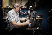 Mr Snowden, Dumfries Cobbler, in his work shop