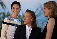 Celine Sciamma, winner of the Best Screenplay award for the film Portrait of a Lady on Fire (Portrait de la Jeune Fille en Feu) with Noemie Merlant and Adele Haenel at the Palme D'Or Award photo call at the 72nd Cannes Film Festival, Saturday 25th May 2019, Cannes, France. Photo credit: Doreen Kennedy