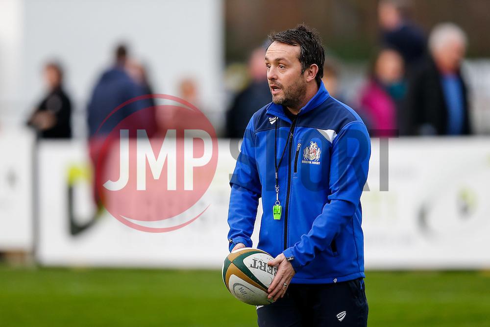 Bristol Rugby First Team Backs & Skills Coach Matthew Sherratt looks on - Mandatory byline: Rogan Thomson/JMP - 19/12/2015 - RUGBY UNION - Goldington Road - Bedford, England - Bedford Blues v Bristol Rugby - B&I Cup.