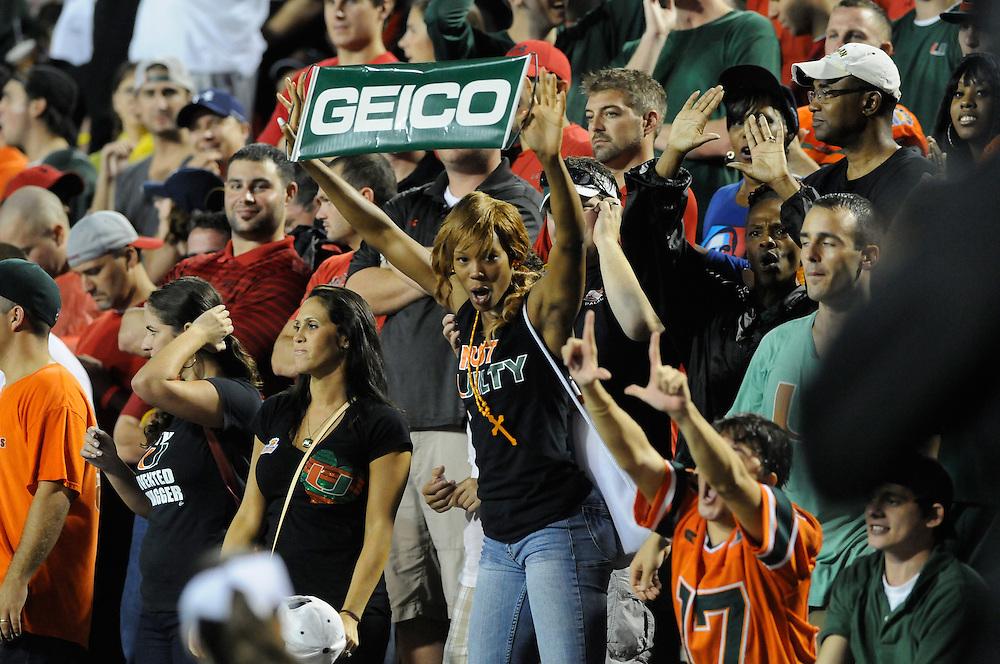2011 Miami Hurricanes Football @ Maryland<br /> <br /> Miami Hurricanes Fan