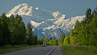 Mt. McKinley from Parks Hwy., north of Talkeetna, Alaska