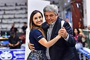 Giulia Cicchinè, Stefano Michelini<br /> Banco di Sardegna Dinamo Sassari - Umana Reyer Venezia<br /> LBA Serie A Postemobile 2018-2019 Playoff Finale Gara 3<br /> Sassari, 14/06/2019<br /> Foto L.Canu / Ciamillo-Castoria
