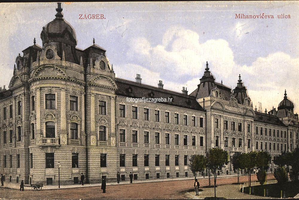 Zagreb : Mihanovićeva ulica = La rue Mihanović. <br /> <br /> ImpresumZagreb : Jos. Čaklović Bromid Chromo, [oko 1934].<br /> Materijalni opis1 razglednica : tisak ; 8,8 x 13,7 cm.<br /> NakladnikJos. Čaklović<br /> Mjesto izdavanjaZagreb<br /> Vrstavizualna građa • razglednice<br /> ZbirkaZbirka razglednica • Grafička zbirka NSK<br /> Formatimage/jpeg<br /> PredmetZagreb –– Ulica Antuna Mihanovića<br /> SignaturaRZG-MIH-5<br /> Obuhvat(vremenski)20. stoljeće<br /> NapomenaRazglednica nije putovala.<br /> PravaJavno dobro<br /> Identifikatori000955088<br /> NBN.HRNBN: urn:nbn:hr:238:944337 <br /> <br /> Izvor: Digitalne zbirke Nacionalne i sveučilišne knjižnice u Zagrebu
