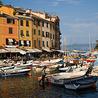 Portofino harbor with boats, Ligury, Italy