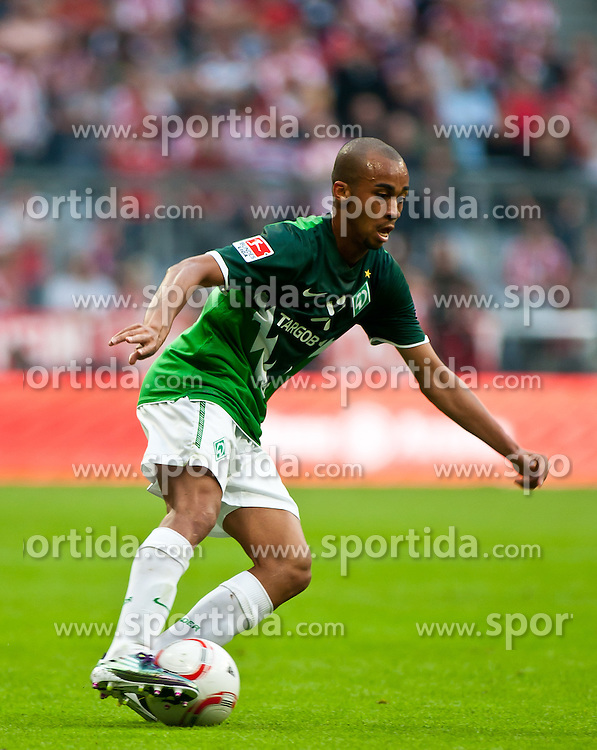11.09.2010, Allianz Arena, München, GER, 1. FBL, FC Bayern München vs Werder Bremen, im Bild Wesley, (Werder Bremen, 05), EXPA Pictures © 2010, PhotoCredit: EXPA/ J. Feichter / SPORTIDA PHOTO AGENCY