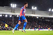 Crystal Palace #11 Wilfried Zaha celebrate 2nd goal for Crystal Palace during the Premier League match between Crystal Palace and Watford at Selhurst Park, London, England on 12 December 2017. Photo by Sebastian Frej.