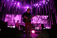 (081308  Mansfield, MA) Thom Yorke, Lead singer of the group Radiohead performs with the band at the Comcast Center in Mansfield on August 13, 2008. Photo by Matthew Healey