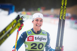 KERN Julia (USA) celebrating 3th place after the ladies team sprint race at FIS Cross Country World Cup Planica 2019, on December 21, 2019 at Planica, Slovenia. Photo By Peter Podobnik / Sportida