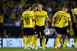 July 20, 2018 - Chicago, IL, U.S. - CHICAGO, IL - JULY 20: Borussia Dortmund midfielder Mario Gotze (10) celebrates his goal with teammates in the first half of play during an International Champions Cup match between Manchester City and Borussia Dortmund on July 20, 2018 at Soldier Field in Chicago, Illinois. (Photo by Robin Alam/Icon Sportswire) (Credit Image: © Robin Alam/Icon SMI via ZUMA Press)