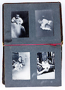 page from a baby 1st photo album 1940s