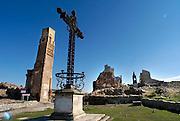 Spanje, Belchite, 11-2-2005..Het stadje Belchite werd in 1937 tijdens de Spaanse burgeroorlog uiteindelijk verwoest door de troepen van Franco. Het is als monument bewaard gebleven. Oorlog, dictator, dictatuur..Foto: Flip Franssen/Hollandse Hoogte