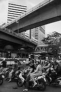 Thailand. Bangkok. Silom road area / quartier de Silom road
