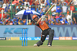 April 29, 2018 - Jaipur, Rajasthan, India - Sunrisers  Hyderabad batsman Kane Williamson  plays a shot during the IPL T20 match against Rajasthan Royals at Sawai Mansingh Stadium in Jaipur on 29th April,2018. (Credit Image: © Vishal Bhatnagar/NurPhoto via ZUMA Press)
