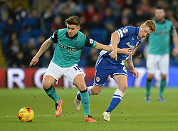 Cardiff City's Eoin Doyle Battles for the ball with Blackburn Rovers's Tom Cairney - Photo mandatory by-line: Alex James/JMP - Mobile: 07966 386802 - 17/02/2015 - SPORT - Football - Cardiff - Cardiff City Stadium - Cardiff City v Blackburn Rovers - Sky Bet Championship