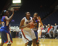 Ole Miss's Nikki Byrd (22) vs. West Georgia's Shaquana Bleach (3) in women's college basketball action in Oxford, Miss. on Thursday, November 4, 2010.