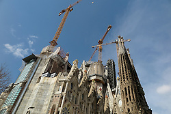 SPAIN CATALONIA BARCELONA 13MAR17 - General view of the Sagrada Familia, a mammoth Basilica construction project spanning more than a century by Catalan architect Antoni Gaudi.<br /> <br /> jre/Photo by Jiri Rezac<br /> <br /> © Jiri Rezac 2017