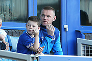 Everton striker Wayne Rooney (10) watches from his box  during the Premier League match between Everton and Southampton at Goodison Park, Liverpool, England on 5 May 2018. Picture by Craig Galloway.