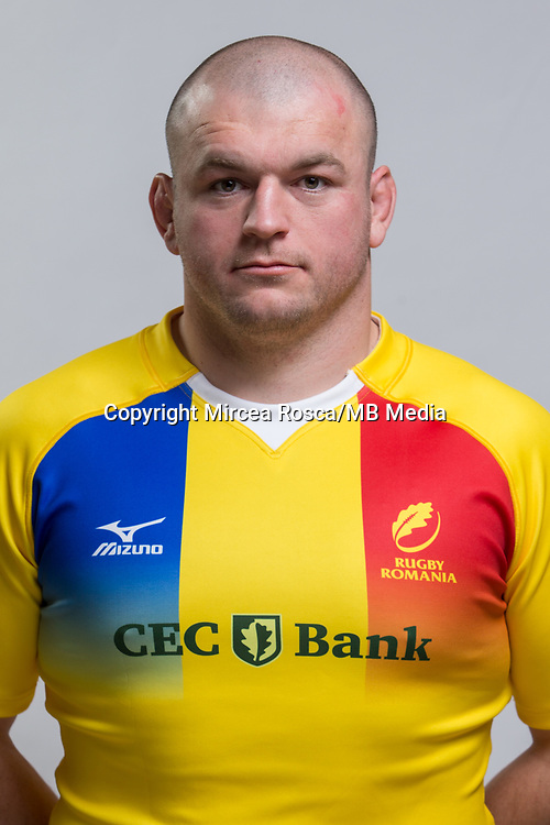 CLUJ-NAPOCA, ROMANIA, FEBRUARY 27: Romania's national rugby player Alexandru Tarus pose for a headshot, on February 27, 2018 in Cluj-Napoca, Romania. (Photo by Mircea Rosca/Getty Images)