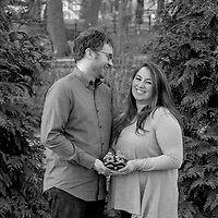 Black & white maternity portrait on-location at Shaw Park in Clayton, MO