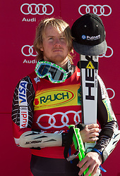 Third placed Ted Ligety of USA at flower ceremony after the Men's Giant Slalom of FIS Ski World Cup Alpine Kranjska Gora, on March 5, 2011 in Vitranc/Podkoren, Kranjska Gora, Slovenia.  (Photo By Vid Ponikvar / Sportida.com)