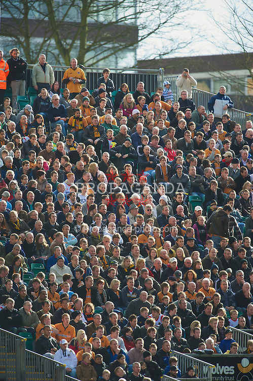 WOLVERHAMPTON, ENGLAND - Saturday, March 27, 2010: Wolverhampton Wanderers' supporters during the Premiership match against Everton at Molineux. (Photo by David Rawcliffe/Propaganda)