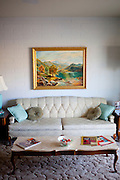 The living room of one of the original model homes, which is now the Del Webb Sun Cities Museum, in Sun City, Arizona dates back to its opening day January 1, 1960.
