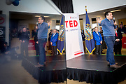 Presidential Hopeful Ted Cruz (R-Tx) campaigns at a local car dealer in Portsmouth, New Hampshire.