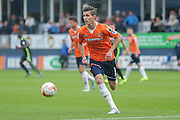 Luton Town defender Dan Potts  during the Sky Bet League 2 match between Luton Town and York City at Kenilworth Road, Luton, England on 10 October 2015. Photo by Simon Davies.