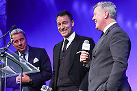 Harry Redknapp, John Terry and Geoff Shreeves onstage.