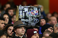 R.S.C Anderlecht fans carrying a drum before the UEFA Champions League match at the Emirates Stadium, London<br /> Picture by David Horn/Focus Images Ltd +44 7545 970036<br /> 04/11/2014