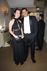 CAROLINE DE COURREGES and AMR EL-BAYOUMI at the 13th annual Russian Summer Ball held at the Banqueting House, Whitehall, London on 14th June 2008.<br />