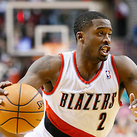 06 December 2013: Portland Trail Blazers shooting guard Wesley Matthews (2) drives toward the basket during the Portland Trail Blazers 130-98 victory over the Utah Jazz at the Moda Center, Portland, Oregon, USA.