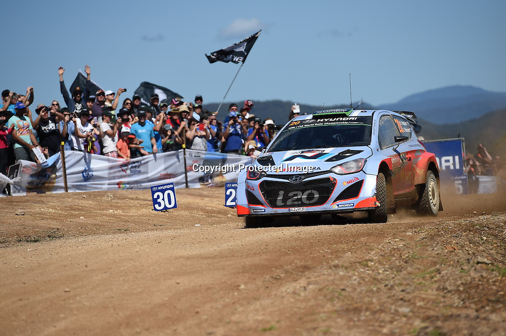 Hayden Paddon (NZL) during Special Stage 17, Rally Australia - Round 10 of the FIA World Rally Championship, Day 3, 14 September 2014. Photo: Alan McDonald/www.photosport.co.nz