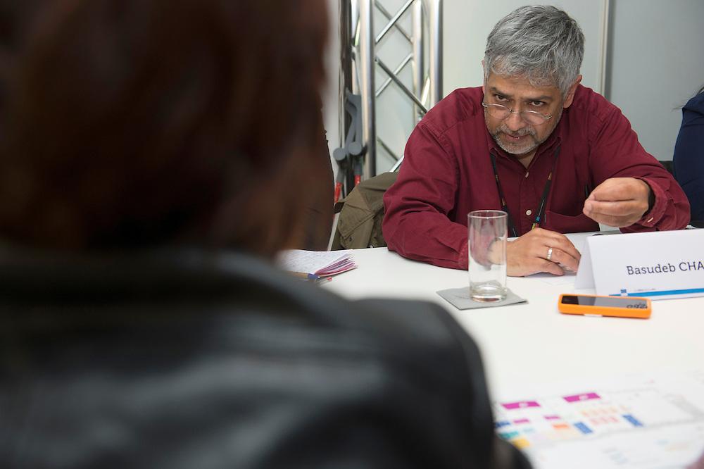 03 June 2015 - Belgium - Brussels - European Development Days - EDD - Jobs - Research for change - New knowledge for poverty eradication - Basudeb Chaudhuri , Senior Researcher at CNRS , Associate professor at University of Caen © European Union