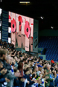 Poppy Appeal and remembrance during the EFL Sky Bet Championship match between Leeds United and Burton Albion at Elland Road, Leeds, England on 29 October 2016. Photo by Richard Holmes.